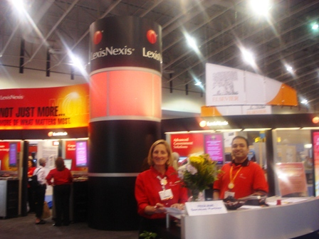 LexisNexis booth at SLA 2009
