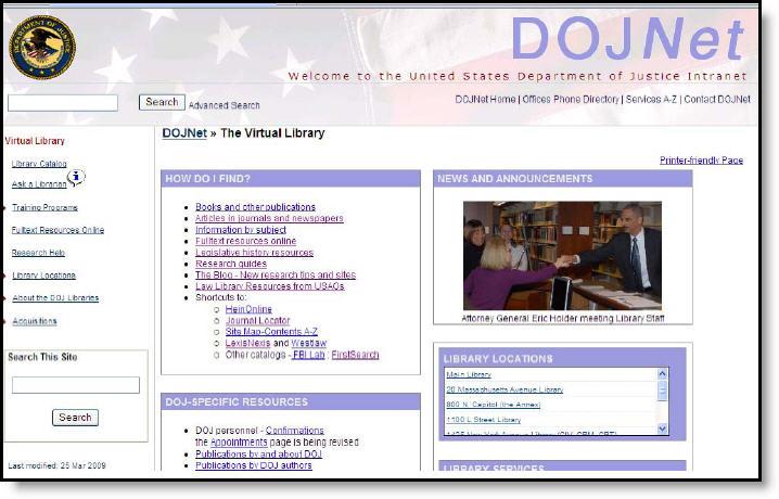 DOJNet Virtual Library