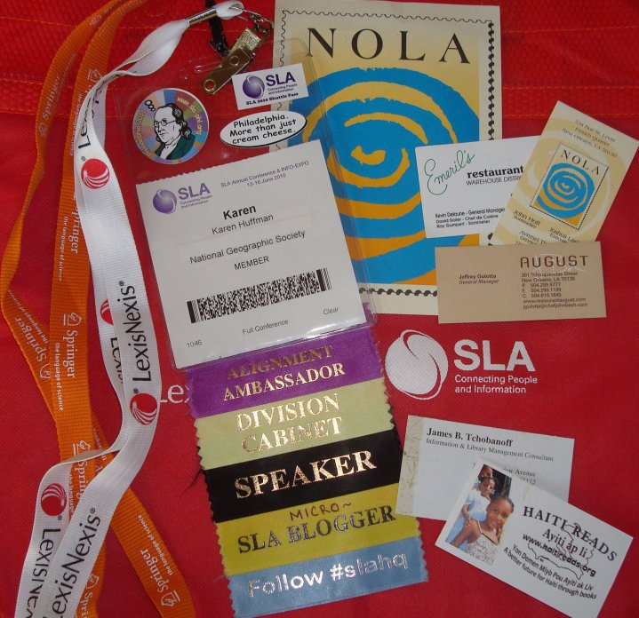 SLA 2010 Conference Badge - Karen Huffman