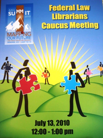 AALL 2010 Federal Caucus Sign