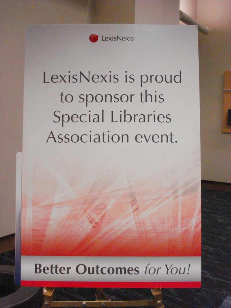 LexisNexis Sponsorship Sign - SLA 2010