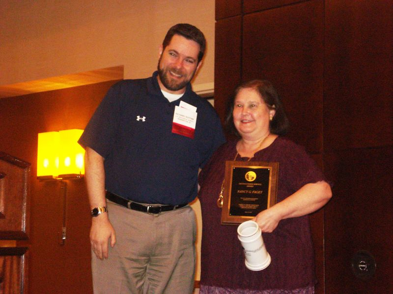 Richard Huffine and Nancy Faget at ALA 2010 FAFLRT Awards