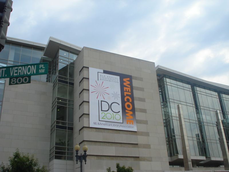 ALA 2010 Sign at DC Conference Center - image by M. Kaddell