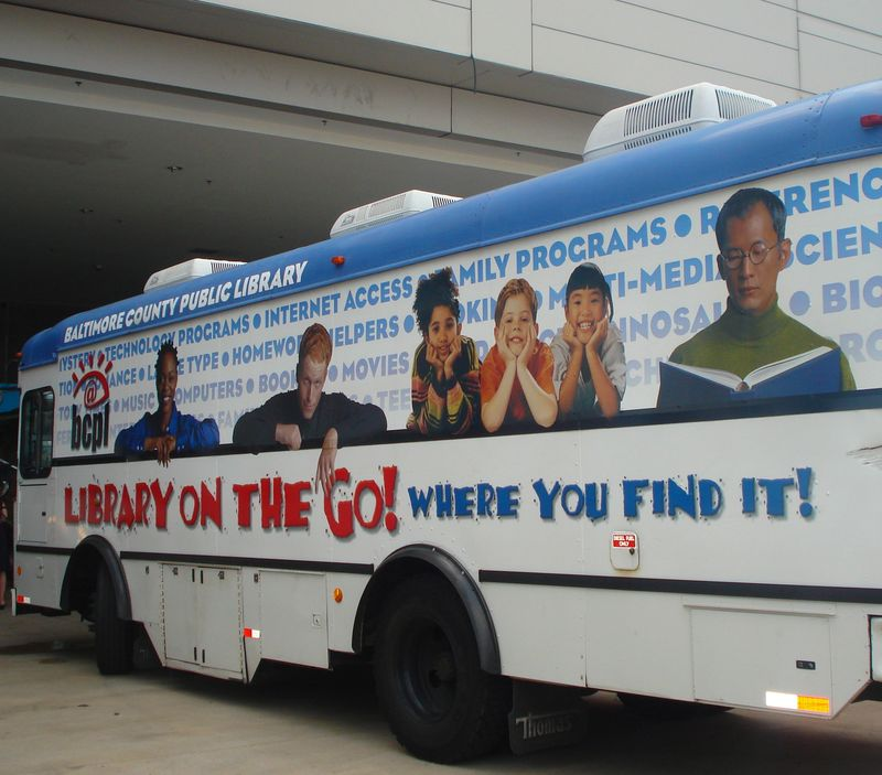 Bookmobile, Baltimore County (Md.) Public Libraries.