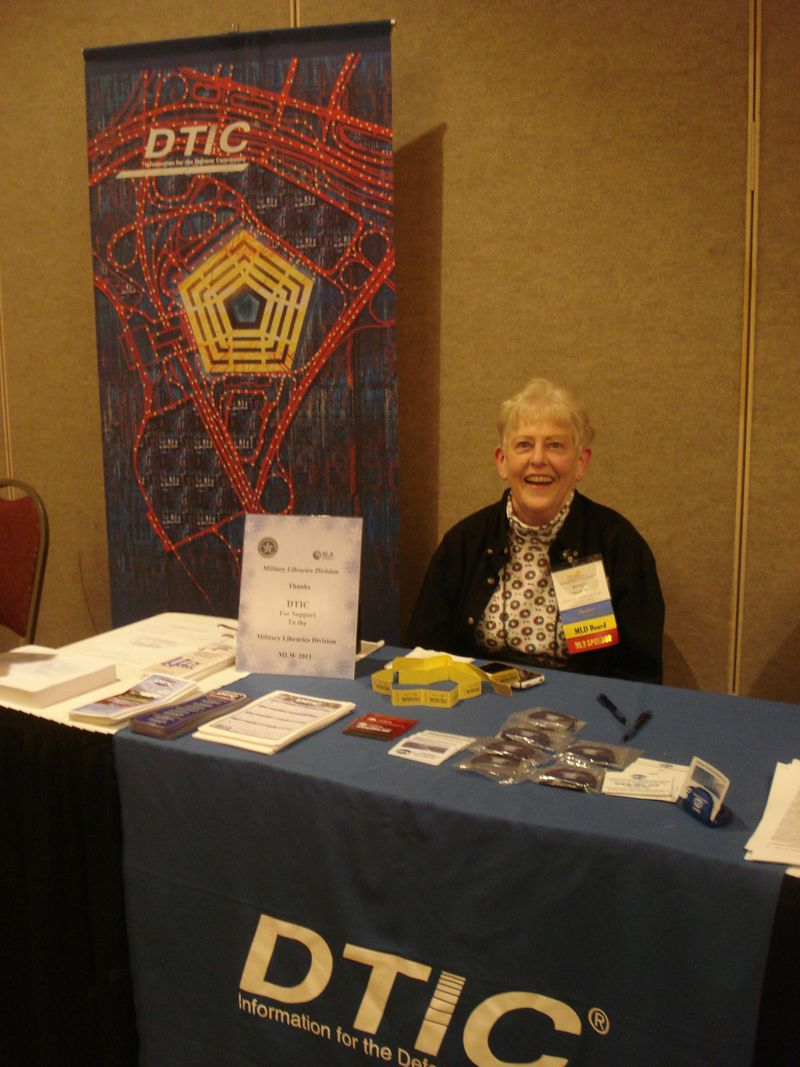DTIC table at MLW 2011 - image by Marie Kaddell