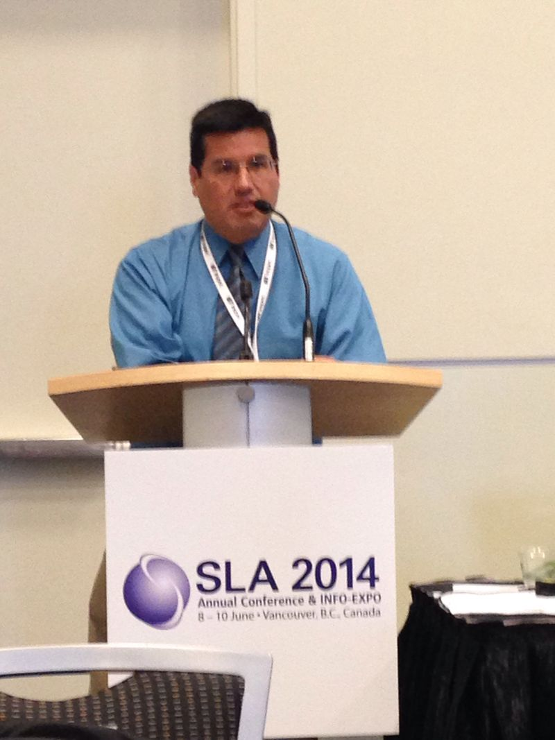 #SLA2014 George Franchois at SLA DGI 2014 Business Meeting