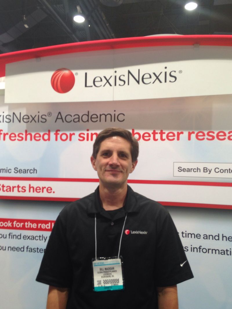 Bill Madigan LexisNexis Global Priduct Planner ALA 2014
