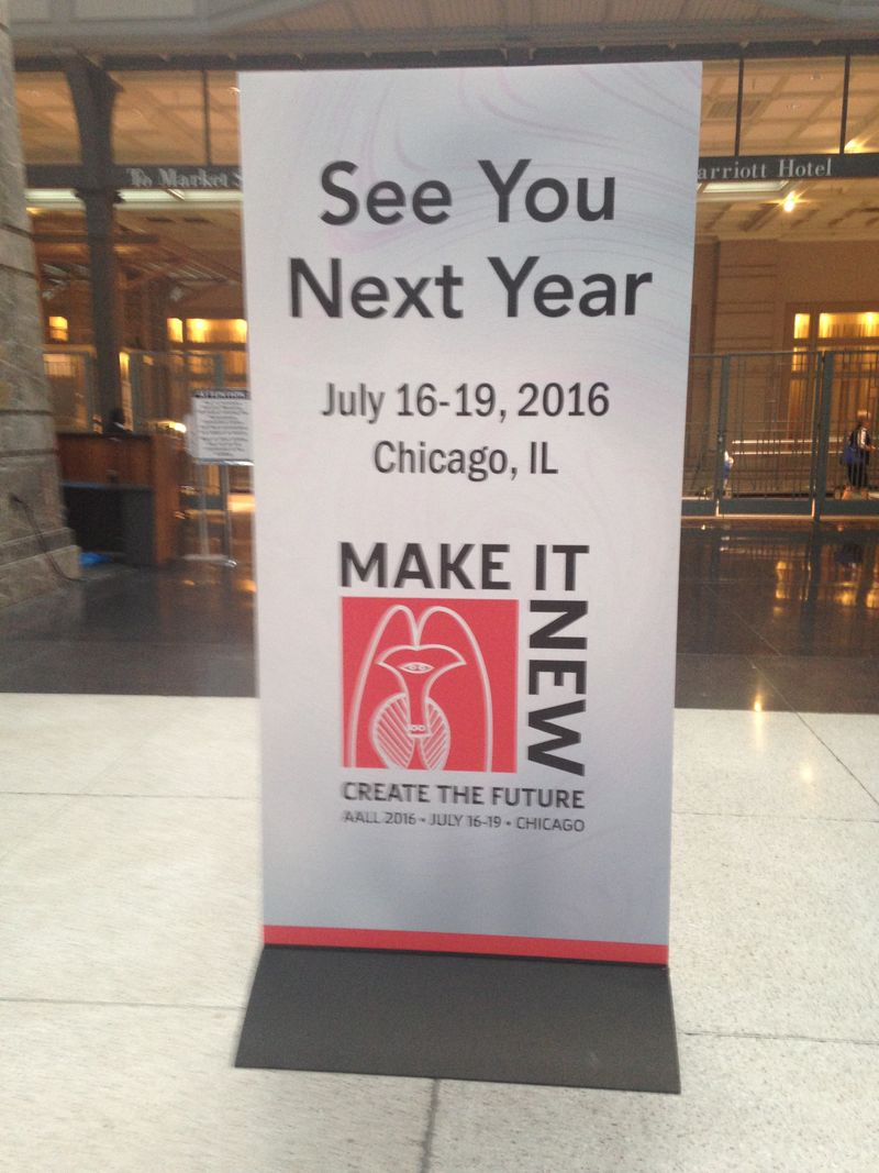 2016 AALL Sign