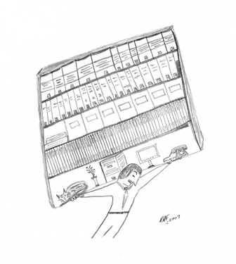 Moving the Library - image by Robert Farina